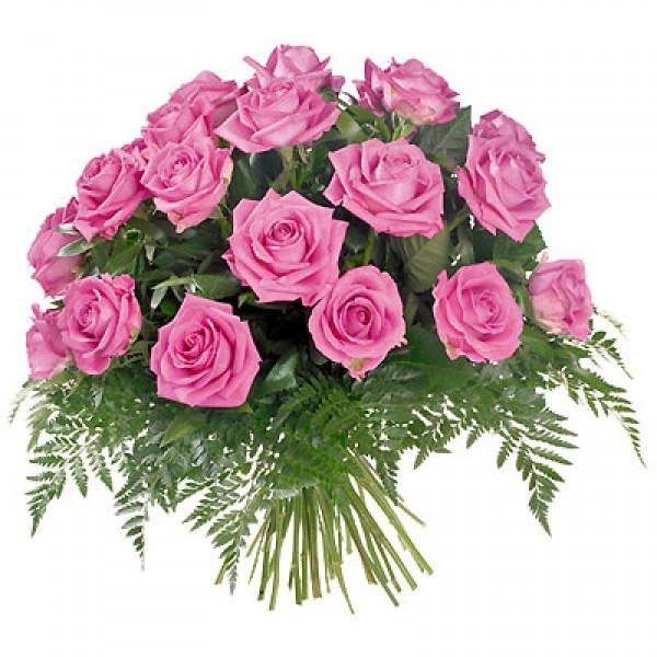 Bukiet 20 róż różowych