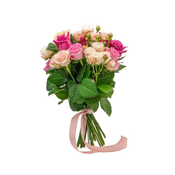 Bukiet różowych róż - Poczta kwiatowa, dostawa kwiatów
