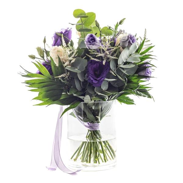 Dostojny bukiet fioletowej eustomy - Poczta kwiatowa, dostawa kwiatów