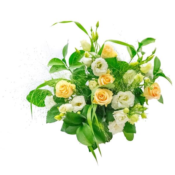 Elegancki bukiet z białą eustomą - Poczta kwiatowa, dostawa kwiatów