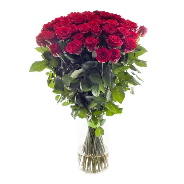 Miłosny bukiet  bordowych róż - Poczta kwiatowa, dostawa kwiatów