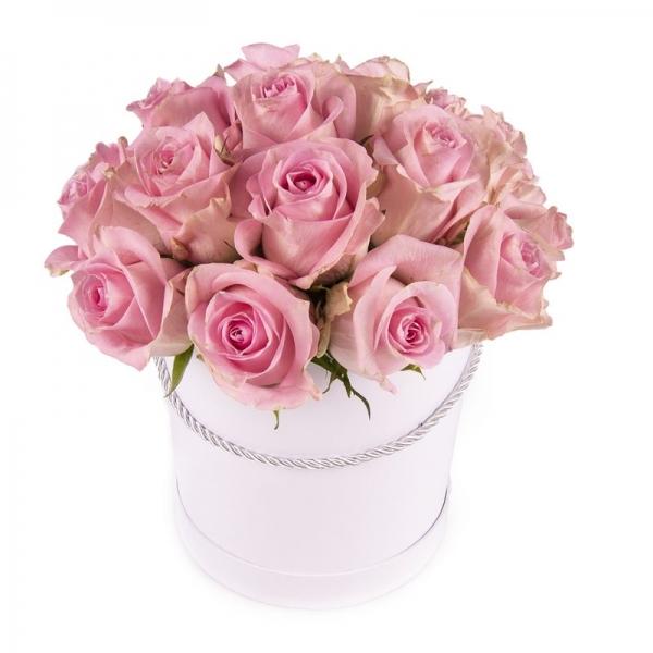 """Flower Box """"Różowe róże"""""""
