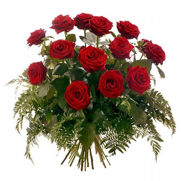 Bukiet 15 róż czerwonych