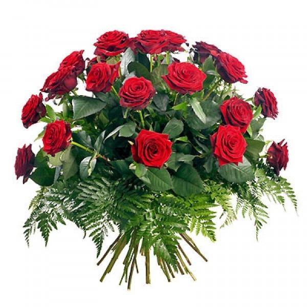 Bukiet 25 róż czerwonych