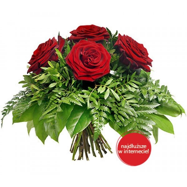 Bukiet 5 róż czerwonych