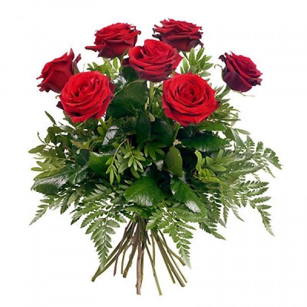 Bukiet 7 róż czerwonych