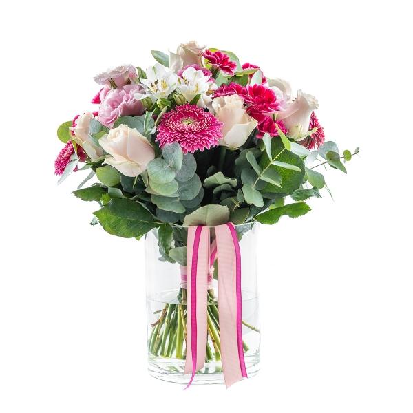 Bukiet koktajlowy biel i róż